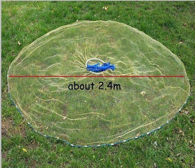 Fish-Trapp Trap Nets 2.4 Meter Lawaia 2.4-4.2 m Casting Net