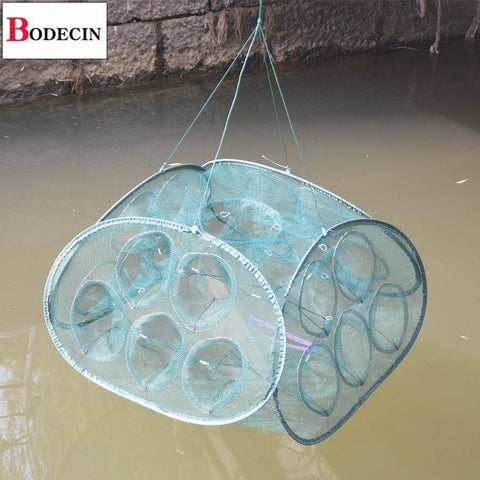 Image of Fish-Trapp Trap Nets 21 Inlets Mesh Fishing Net
