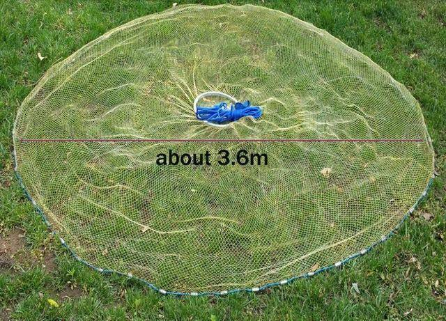Fish-Trapp Trap Nets 3.6 Meter Lawaia 2.4-4.2 m Casting Net