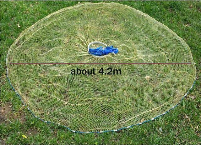 Fish-Trapp Trap Nets 4.2 Meter Lawaia 2.4-4.2 m Casting Net