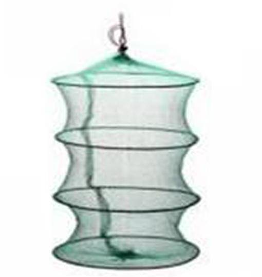 Fish-Trapp Trap Nets 4layers Round Metal Frame Bait Trap Net