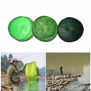Fish-Trapp Trap Nets Fishing Landing Tackle Folding Round Metal Fish Net