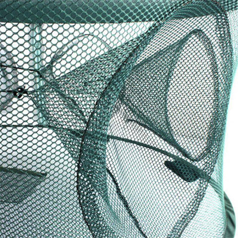 Fish-Trapp Trap Nets Fishing Trap Baits Cast Net with 7 Entrances