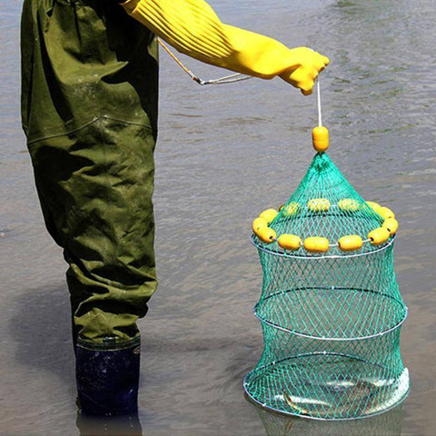 Image of Fish-Trapp Trap Nets Floating Fishing Keep Net