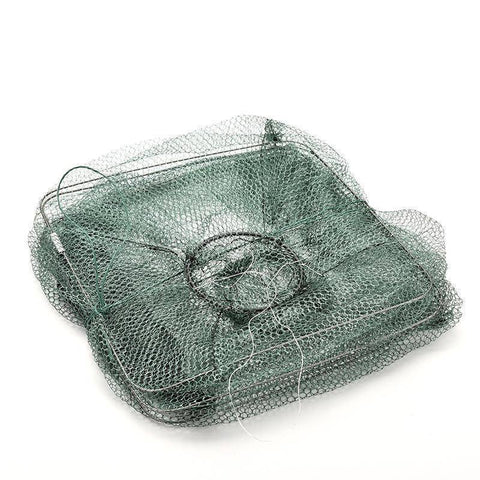 Fish-Trapp Trap Nets Foldable Nylon Fishing Mesh Cage