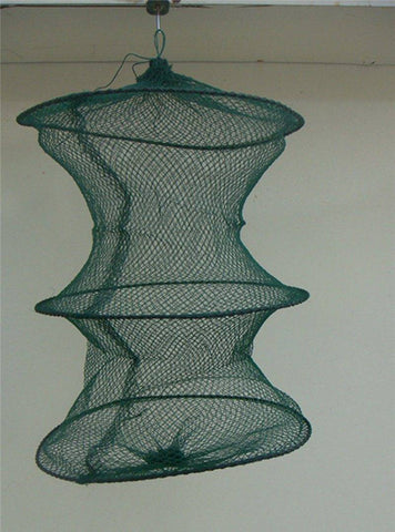 Fish-Trapp Trap Nets Folding Round Metal Frame Bait Trap Net