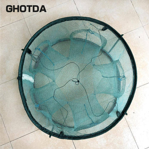 Image of Fish-Trapp Trap Nets Portable 5/6/7 Holes Automatic Fishing Trap