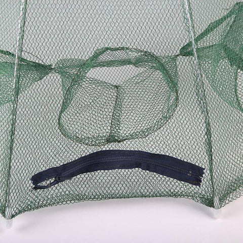 Image of Fish-Trapp Trap Nets Portable Hexagon 6 Hole Automatic Fishing Mesh Trap