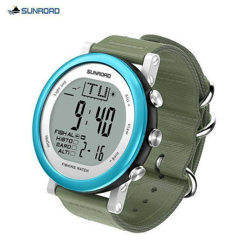 Image of Fish-Trapp Watches Blue Digital Fishing Wristwatch