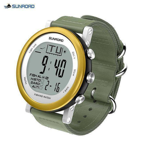 Image of Fish-Trapp Watches Gold Digital Fishing Wristwatch