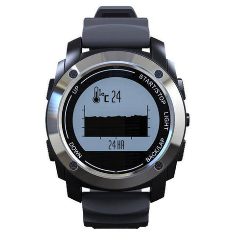 Fish-Trapp Watches Silver GPS Outdoor Sports Watch
