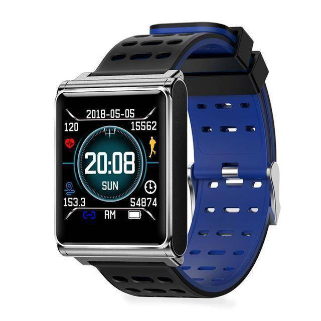 Makibes Official Store Black blue Makibes CK02 Smart Watch