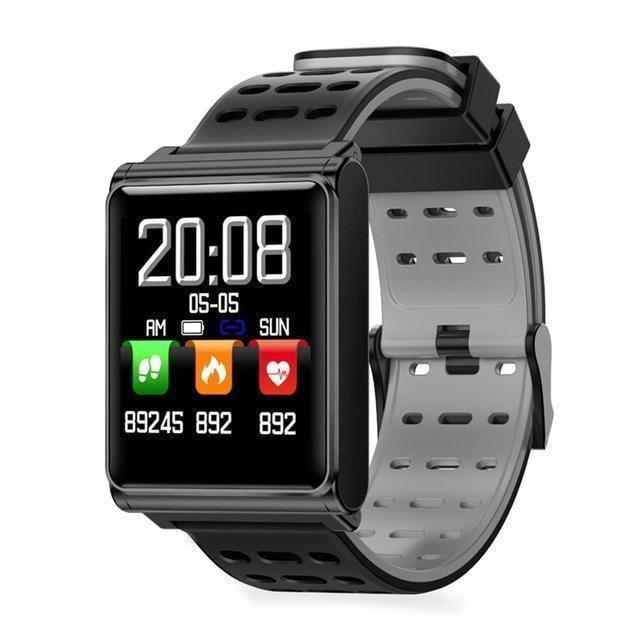 Makibes Official Store Black grey Makibes CK02 Smart Watch