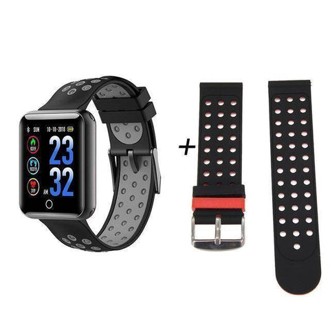 Makibes Official Store Gray add black CK01 Smart Watch Unisex