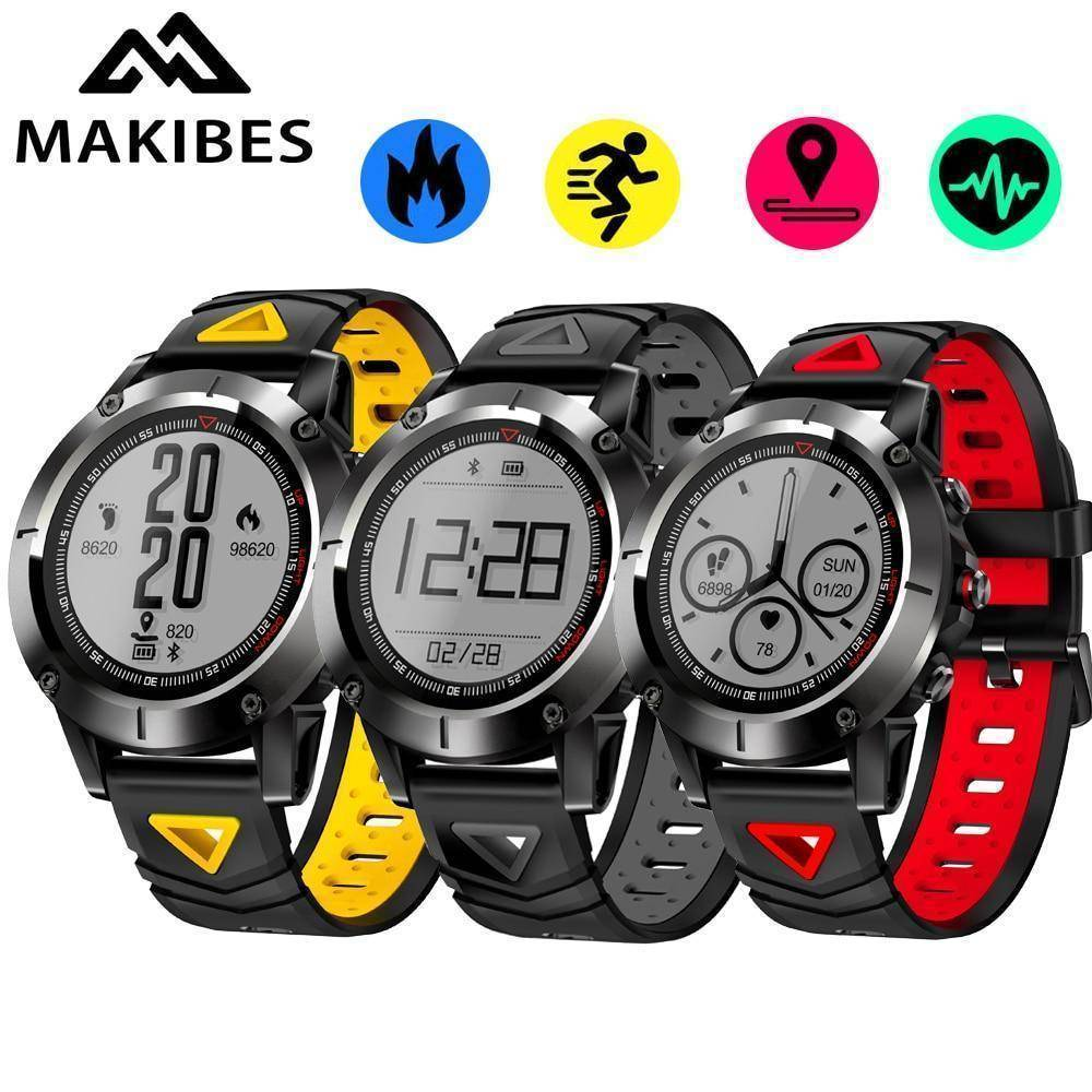 Makibes Official Store Makibes K6 GPS Compass Transparent Screen IP68 Speedometer Sport Watch Heart Rate monitor Multi-sport fitness tracker SmartWatch