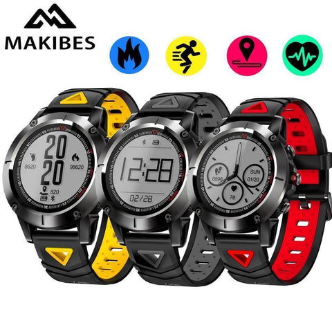 Image of Makibes Official Store Makibes K6 GPS Compass Transparent Screen IP68 Speedometer Sport Watch Heart Rate monitor Multi-sport fitness tracker SmartWatch