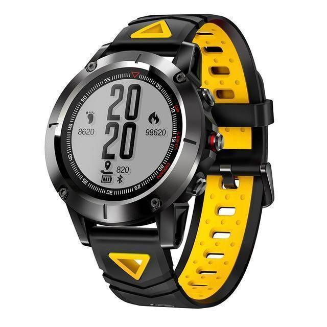 Makibes Official Store yellow Makibes K6 GPS Compass Transparent Screen IP68 Speedometer Sport Watch Heart Rate monitor Multi-sport fitness tracker SmartWatch