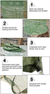 5 Layers Folding Fish Trap Cast Net