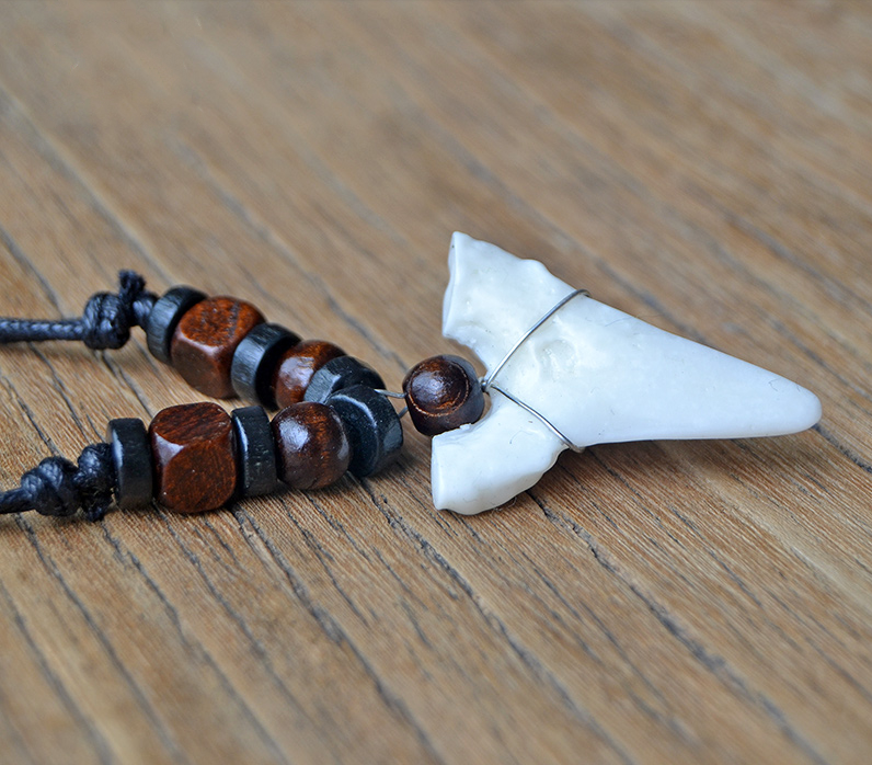 Hawaii Surfer Handmade Shark Tooth