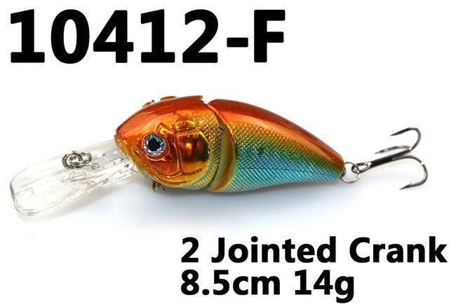 Fishing Lures Minnow 2 Jointed Rock Crank Bait