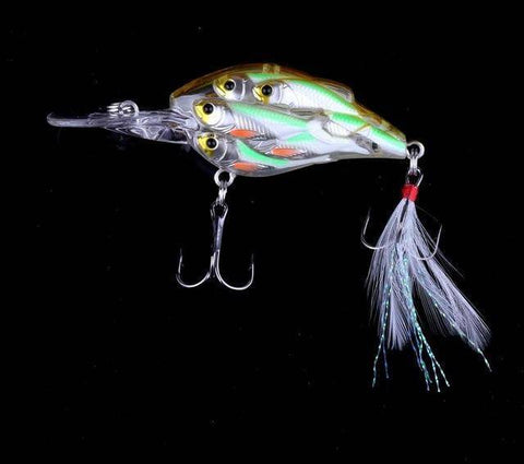 Image of Plastic Hard Bait Wobbler Fishing Tackle Shads