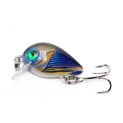 30mm 2g Crazy Wobblers Mini Topwater Crankbait Artificial