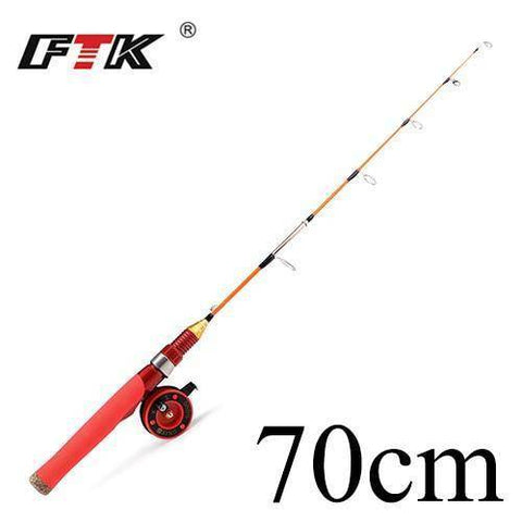 Image of Winter Ice Fishing Rod with Ice Fishing Reel