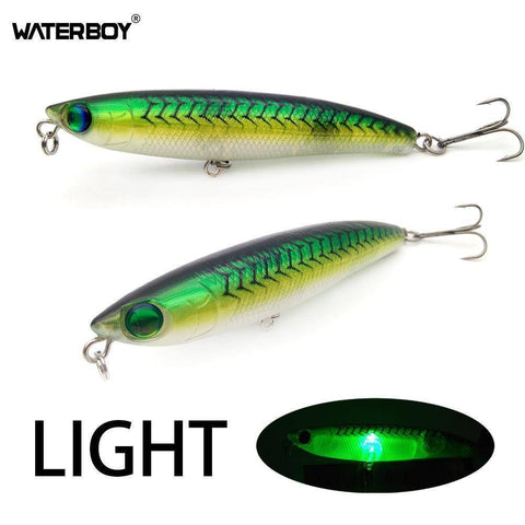 WATERBOY Official Store Fishing Lures Flashing LED Light Pencil Fishing Lure