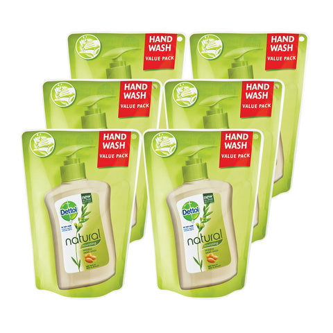 Dettol Hygiene Liquid Hand Wash Nourishing Refill Pouch - 6 Pack of 200ml's - Cantomart.co.za