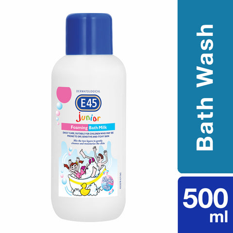 E45 Junior Range Foaming Bath Milk - 500ml - Cantomart.co.za