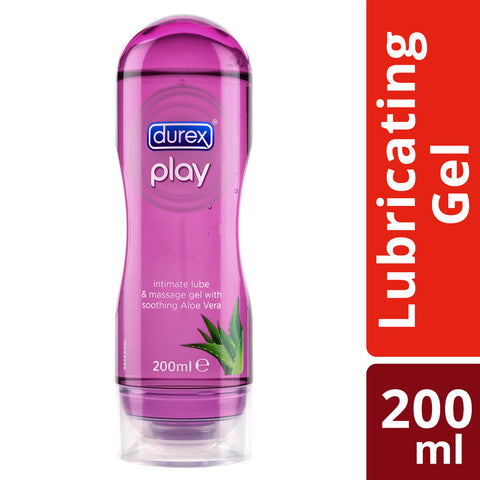 Durex Play 2 in 1 Massage Gel & Lubricant (Aloe Vera) - 200ML - Cantomart.co.za
