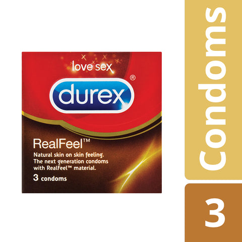 Durex Real Feel Condoms - 3's - Cantomart.co.za