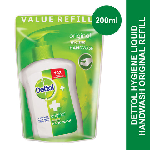 Dettol Hygiene Liquid Hand Wash Original Refill Pouch -200ml - Cantomart.co.za