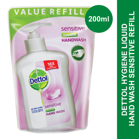 Dettol Hygiene Liquid Hand Wash Sensitive Refill-200ml - Cantomart.co.za