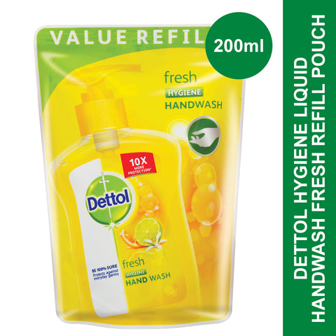 Dettol Hygiene Liquid Hand Wash Fresh Refill Pouch -200ml - Cantomart.co.za