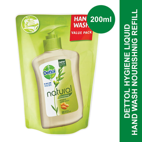 Dettol Hygiene Liquid Hand Wash Nourishing Refill Pouch -200ml - Cantomart.co.za