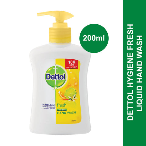 Dettol Hygiene Liquid Hand Wash Pump Fresh-200ml - Cantomart.co.za