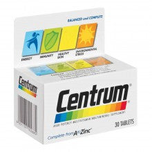 Centrum Adult Tab 30 - Cantomart.co.za