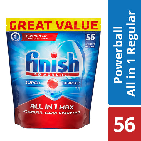Finish All in One Dishwashing Tablets Regular - 56'S - Cantomart.co.za