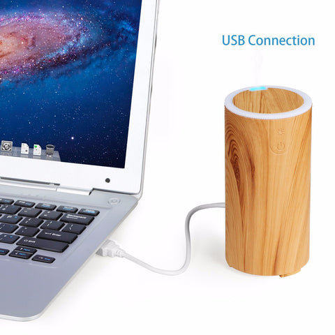 LOOVE Peppermint Wood Grain Ultrasonic USB Aromatherapy Essential Oil Diffuser - Cantomart.co.za