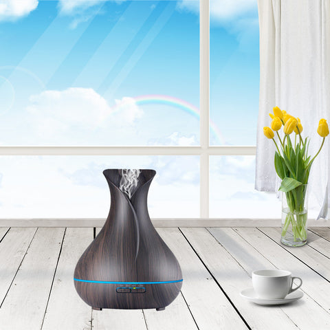 LOOVE Lavender Woodgrain 400ml - Indoor Ultrasonic Essential Oil & Aromatherapy Diffuser - Cantomart.co.za