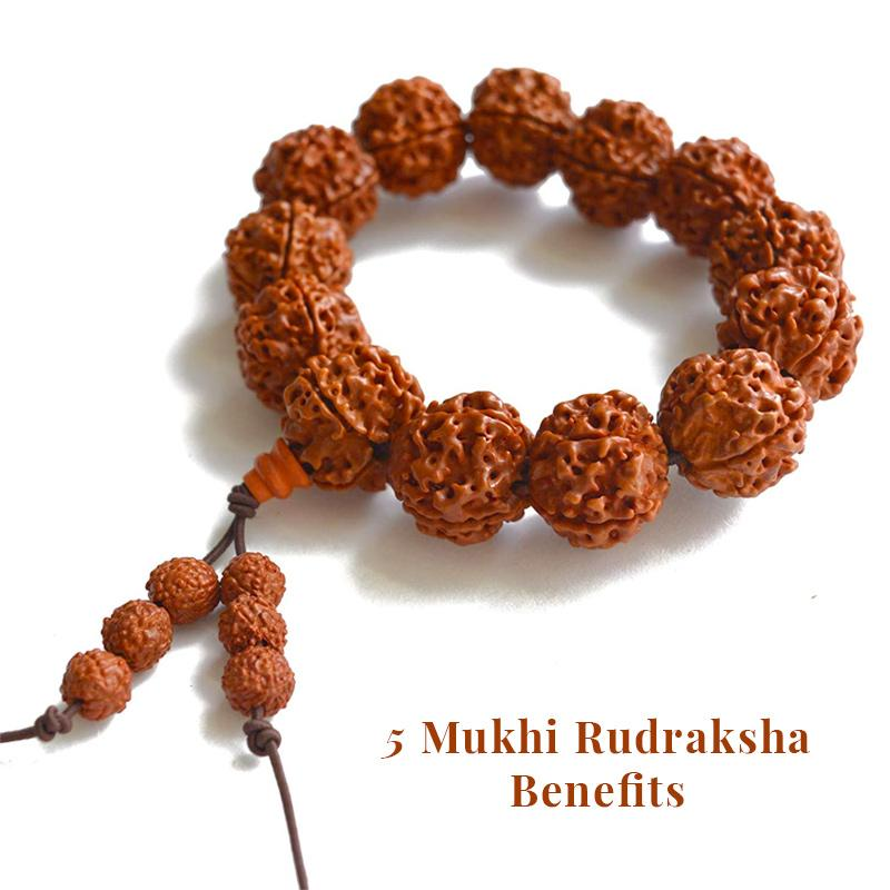 What are the benefits of wearing five Mukhi Rudraksha?