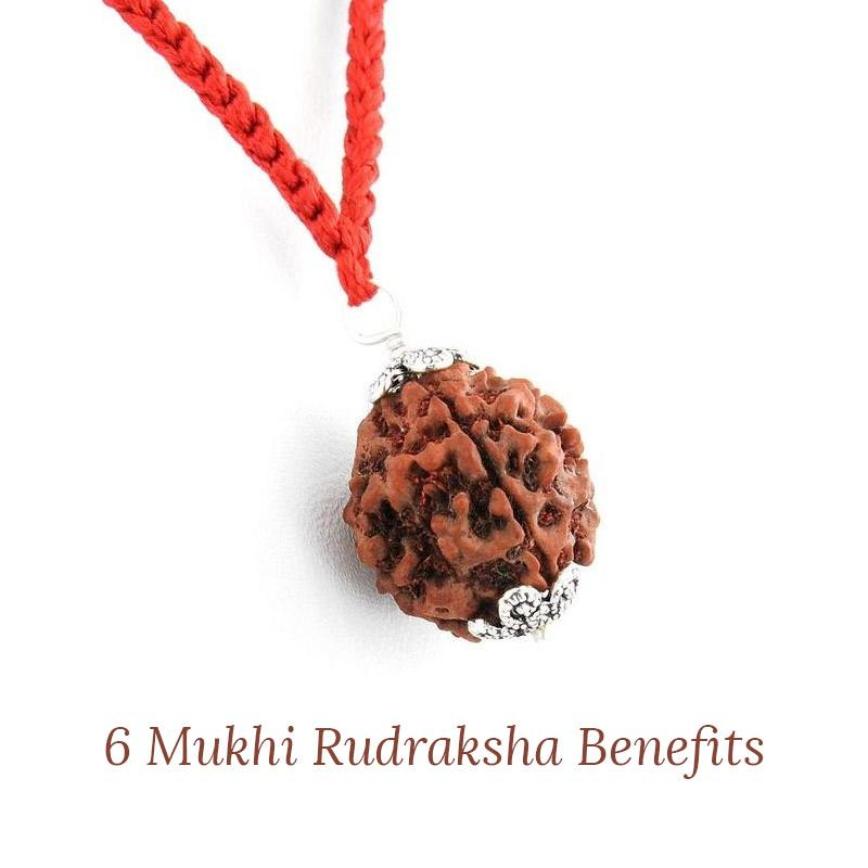 Importance of wearing 6 Mukhi Rudraksha
