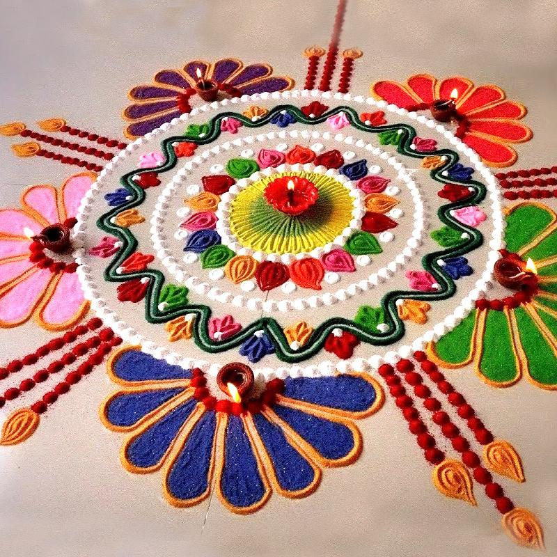 15 Latest Rangoli Designs for Diwali 2019