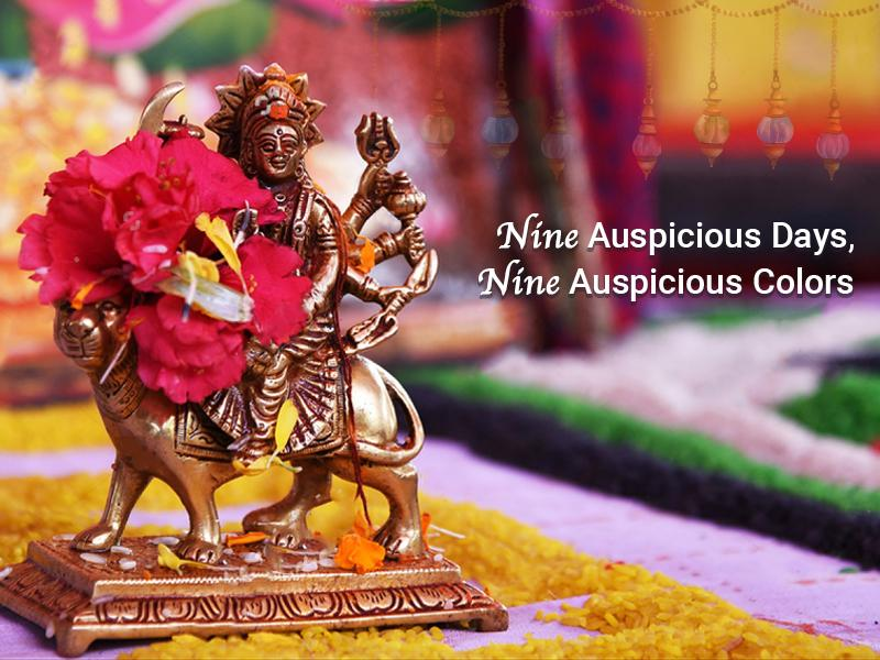 Celebrate The Nine Days of Navratri with Nine Colours & Their Significance