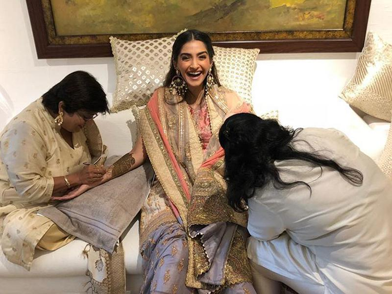 Take Inspiration from Sonam Kapoor's Mehndi Ceremony Pics