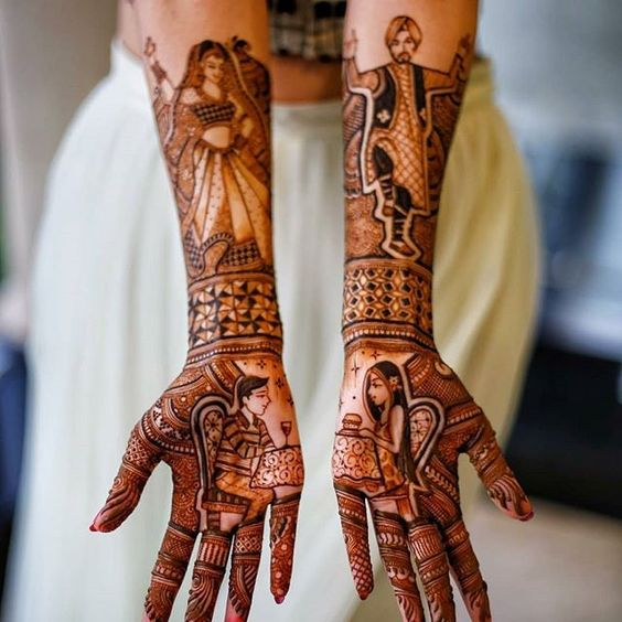 special mehndi designs for karva chauth