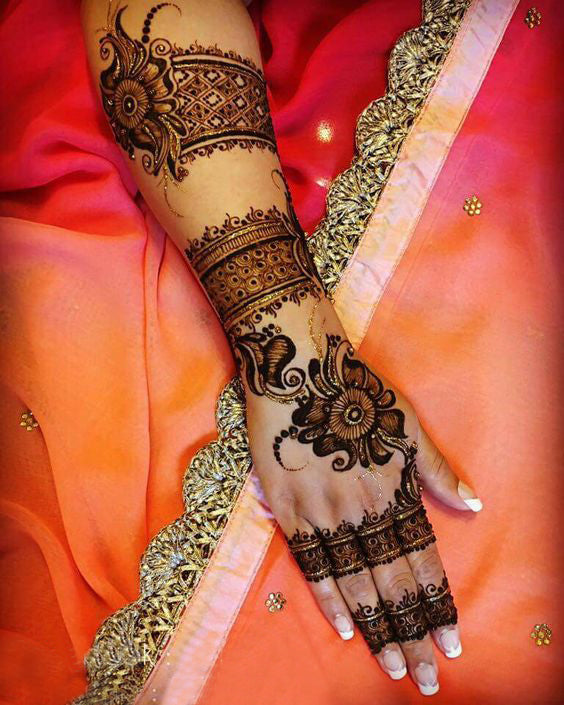 easy karwa chauth mehndi designs for hands