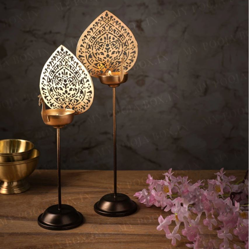 Aamrapali Peacock T-light Stand (Set of 2)