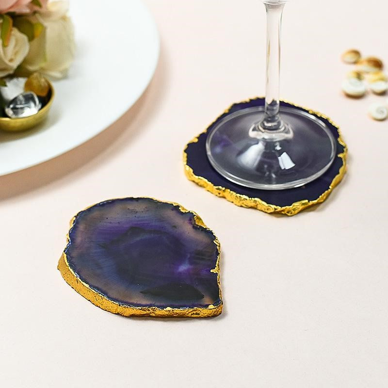 Agate Coasters is the best housewarming return gift ideas for Indian family